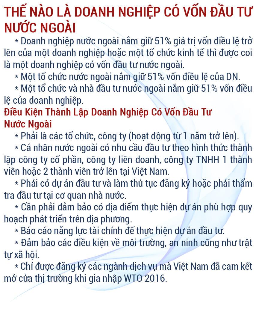 Danh sách doanh nghiệp có vốn đầu tư nước ngoài tại Việt Nam